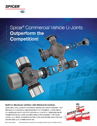 Spicer Commercial Vehicle U-Joints Outperform the Competition