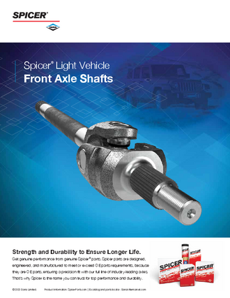 Front Axle Shafts