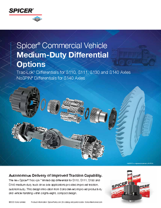 Spicer® Commercial Vehicle Medium-Duty Differential Options - Trac-Lok™