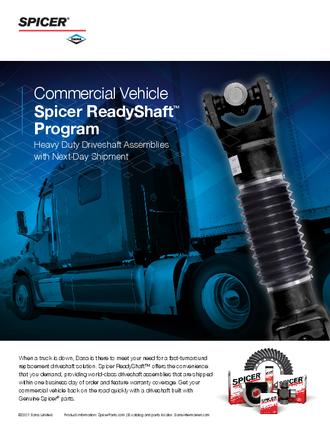 Spicer ReadyShaft™ Program