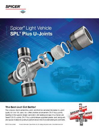 Spicer® Light Vehicle SPL® Plus U-Joints