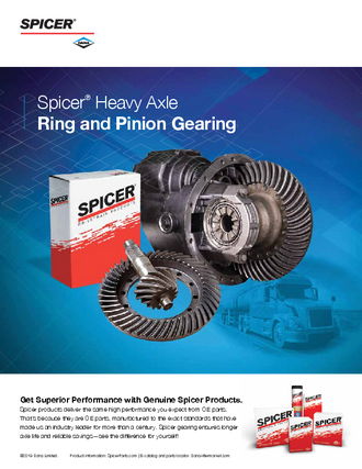 Spicer Heavy Axle Ring & Pinion Gearing