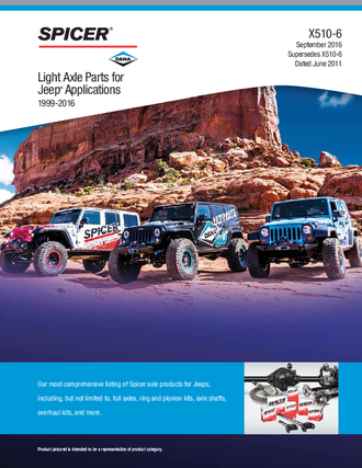 Light Axle Parts for Jeep Applications