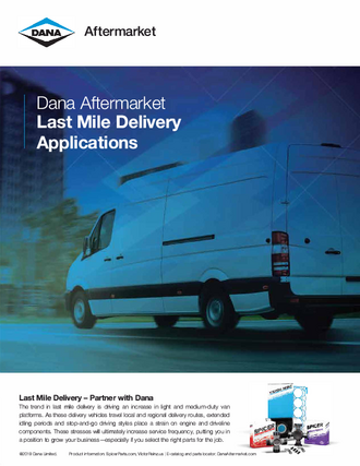 Last Mile Delivery Applications