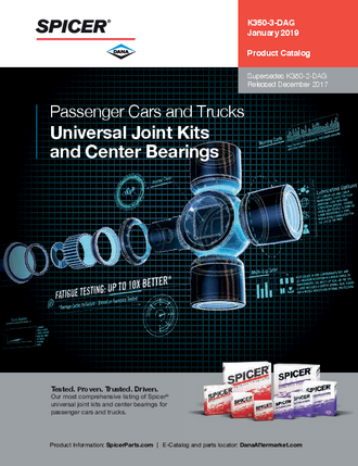 Universal Joint Kits and Center Bearings for Passenger Cars and Trucks