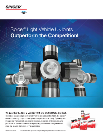 Spicer Light Vehicle U-Joints Outperform the Competition!