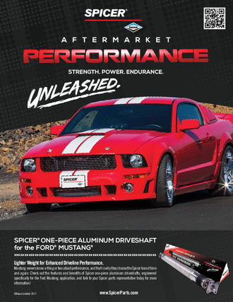 One-Piece Aluminum Driveshaft for the Ford Mustang