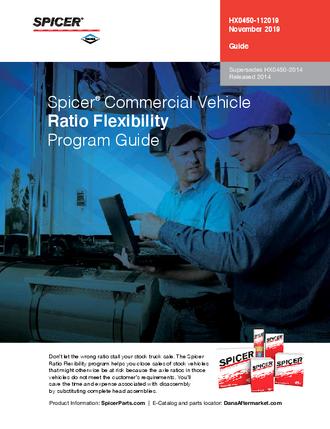 Spicer® Ratio Flexibility Program Guide