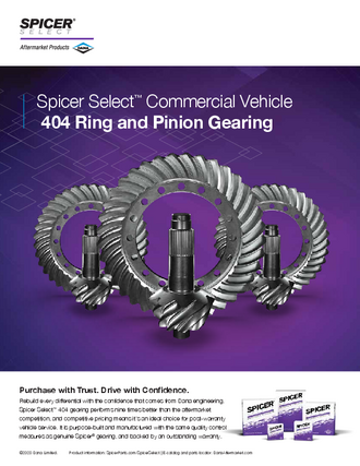 Spicer Select™ Commercial Vehicle 404 Ring and Pinion Gearing